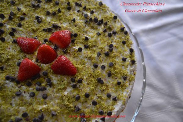 Cheesecake fredda pistacchio e cioccolato