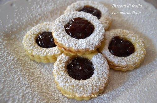 Biscotti sablè con confettura