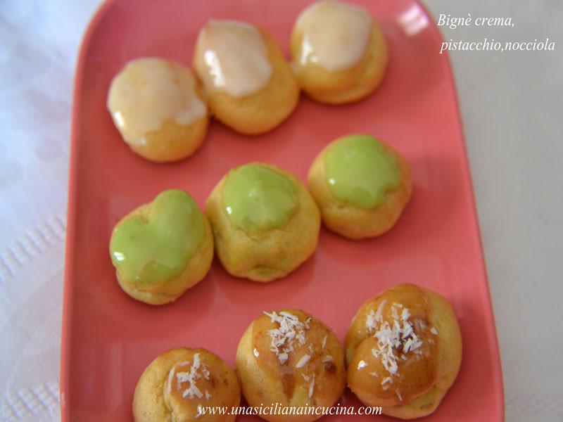 bignè crema pistacchio nocciola