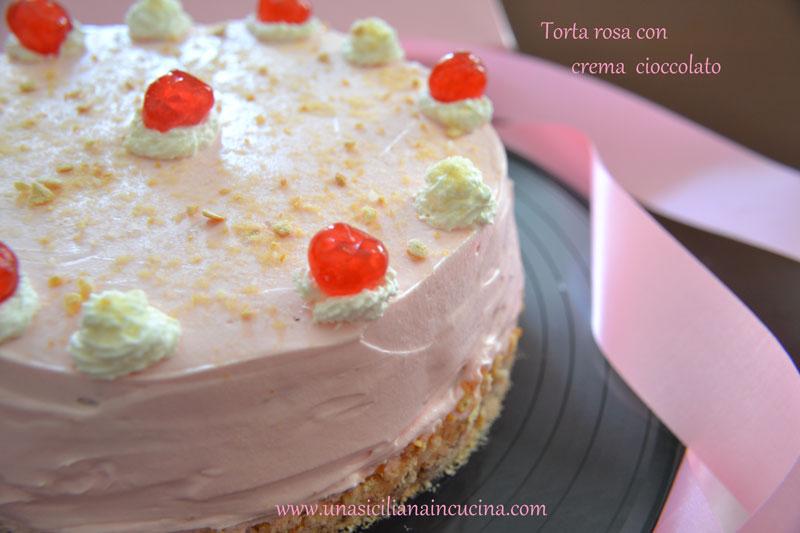 torta rosa crema cioccolato