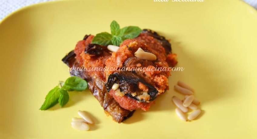 Involtini di melanzana alla siciliana