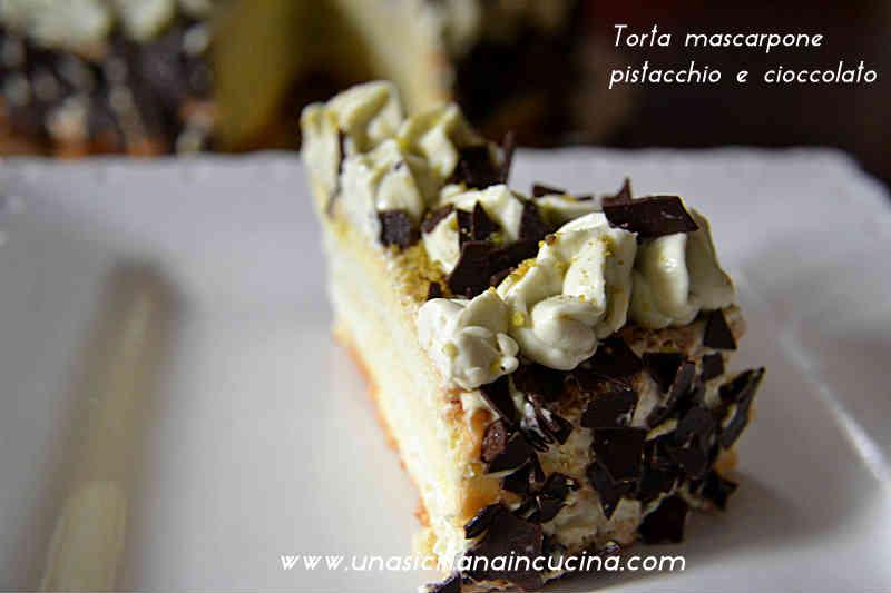 Tort mascarpone cioccolato pistacchio