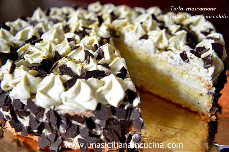 Torta mascarpone pistacchio ciocco