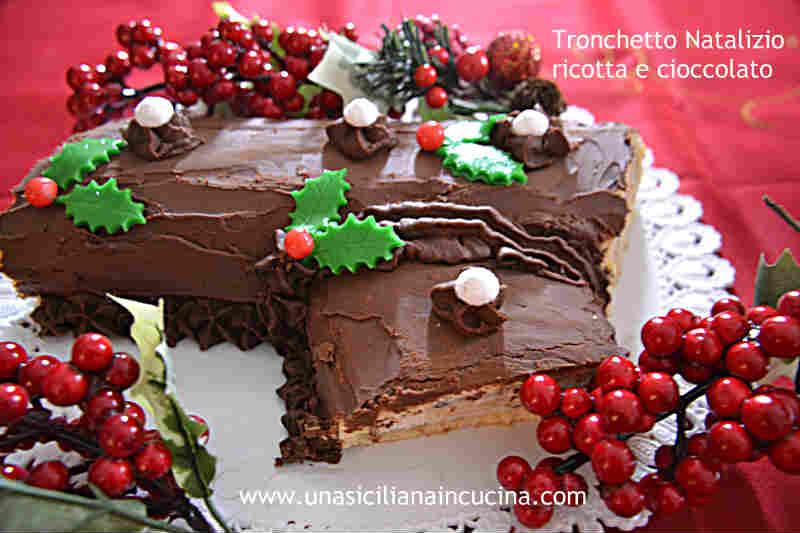 Tronchetto ricotta e cioccolato