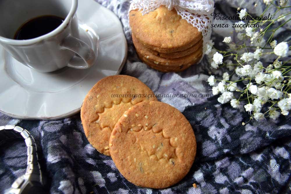 Biscotti ai cereali senza zucchero (saccarosio)