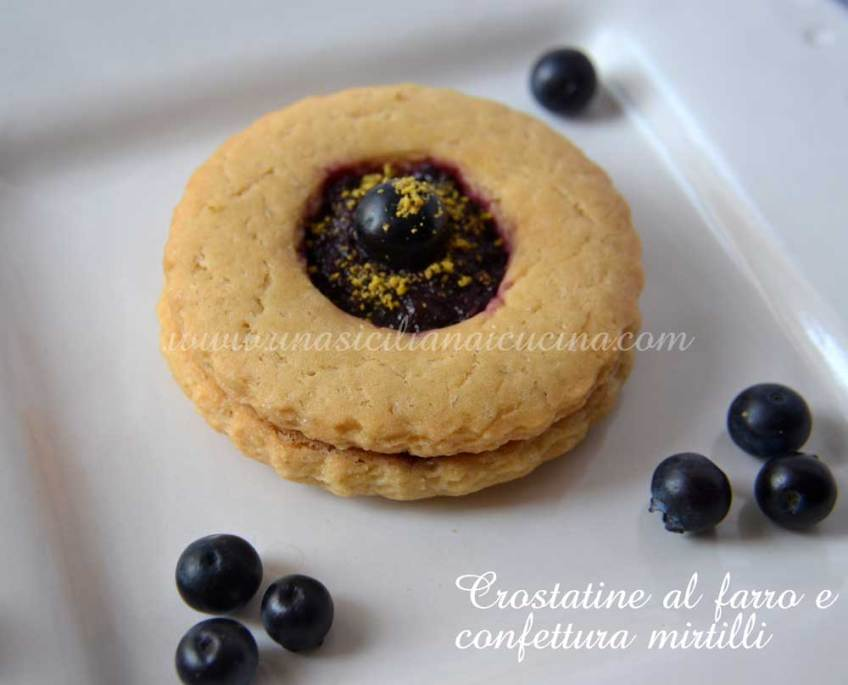 Crostatine al farro frolla all'olio