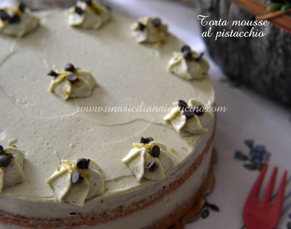 Torta mousse pistacchio e mascarpone