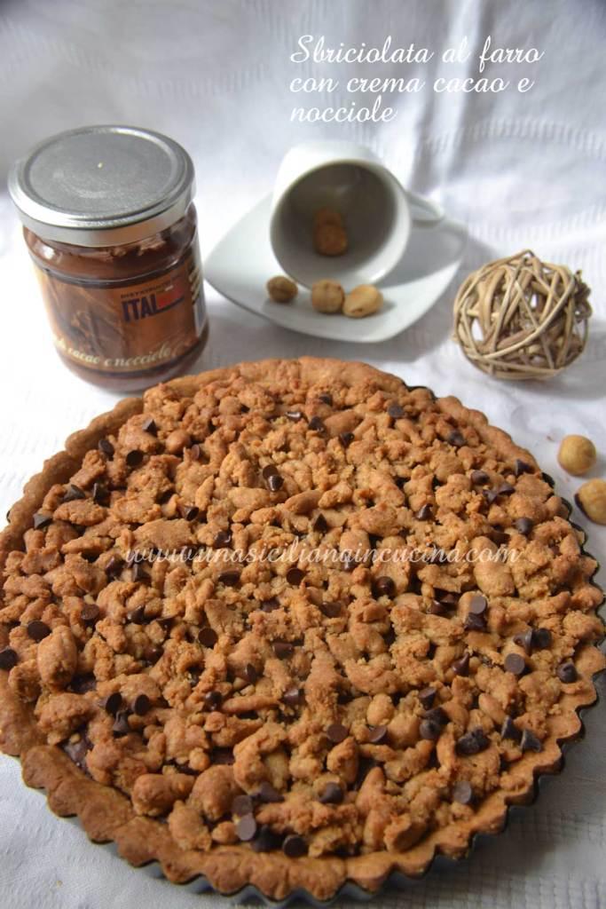 sbriciolata farro crema cacao nocciole
