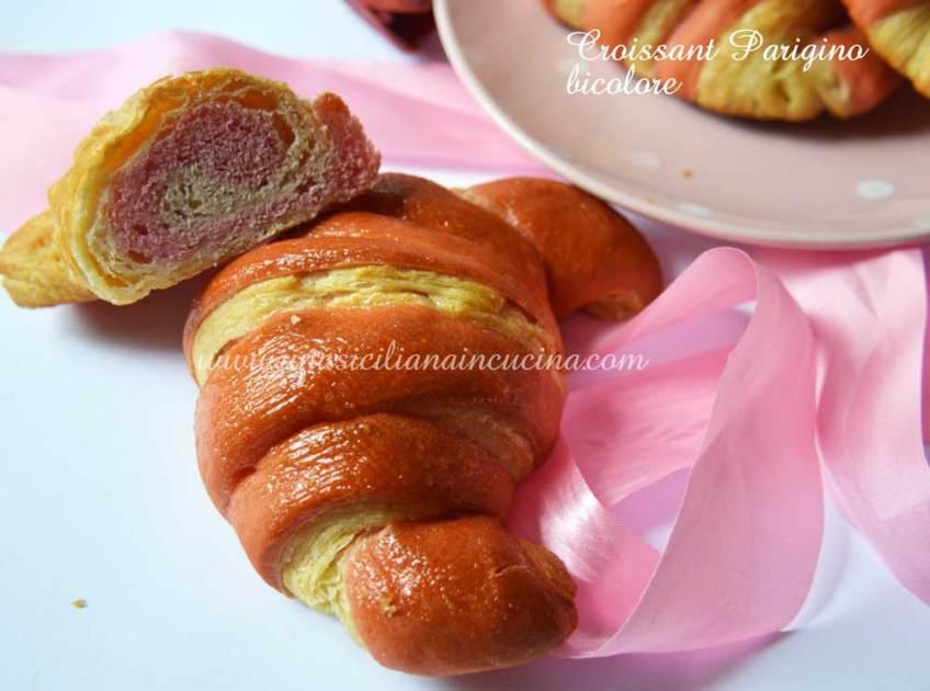 Croissant parigino bicolore