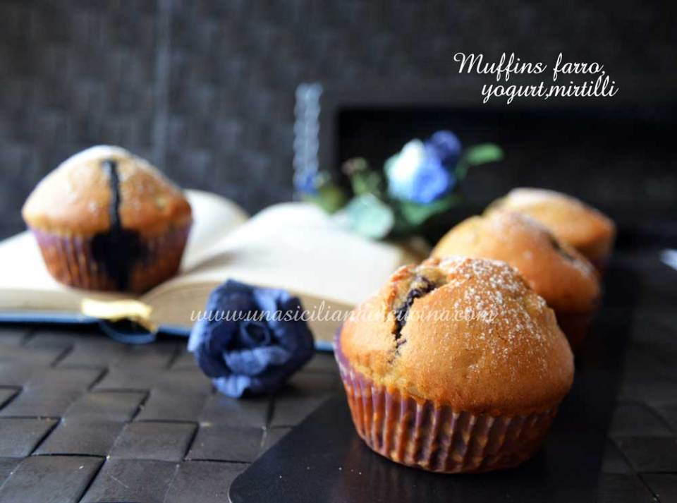 Muffins farro yogurt e mirtilli