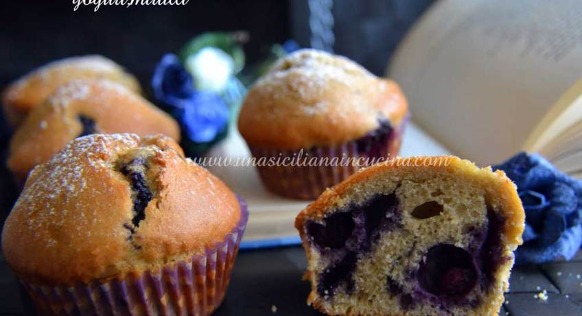 Muffins farro yogurt e mirtilli