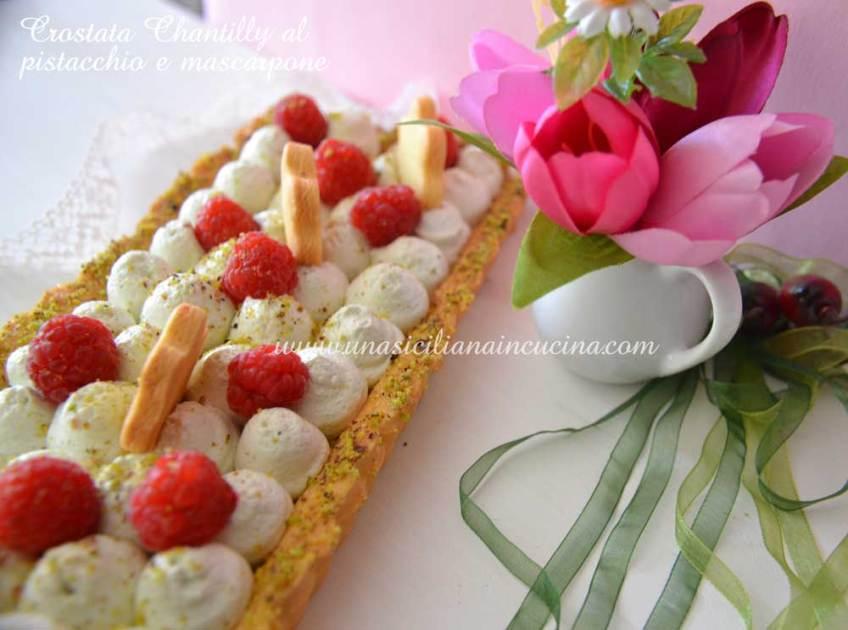 Crostata chantilly mascarpone e pistacchio