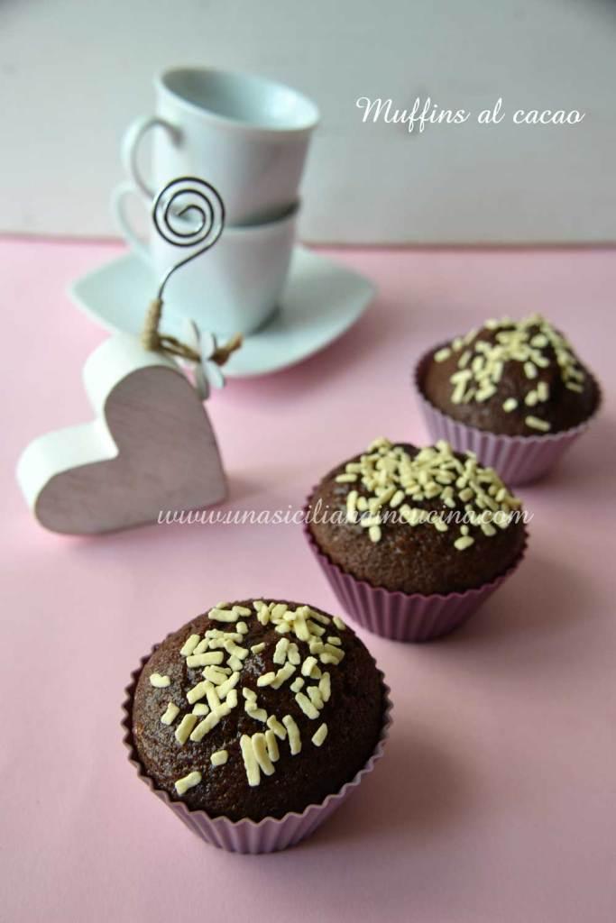 Muffins al cacao all acqua