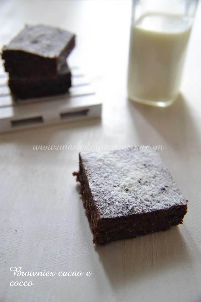 Brownies al cacao e cocco