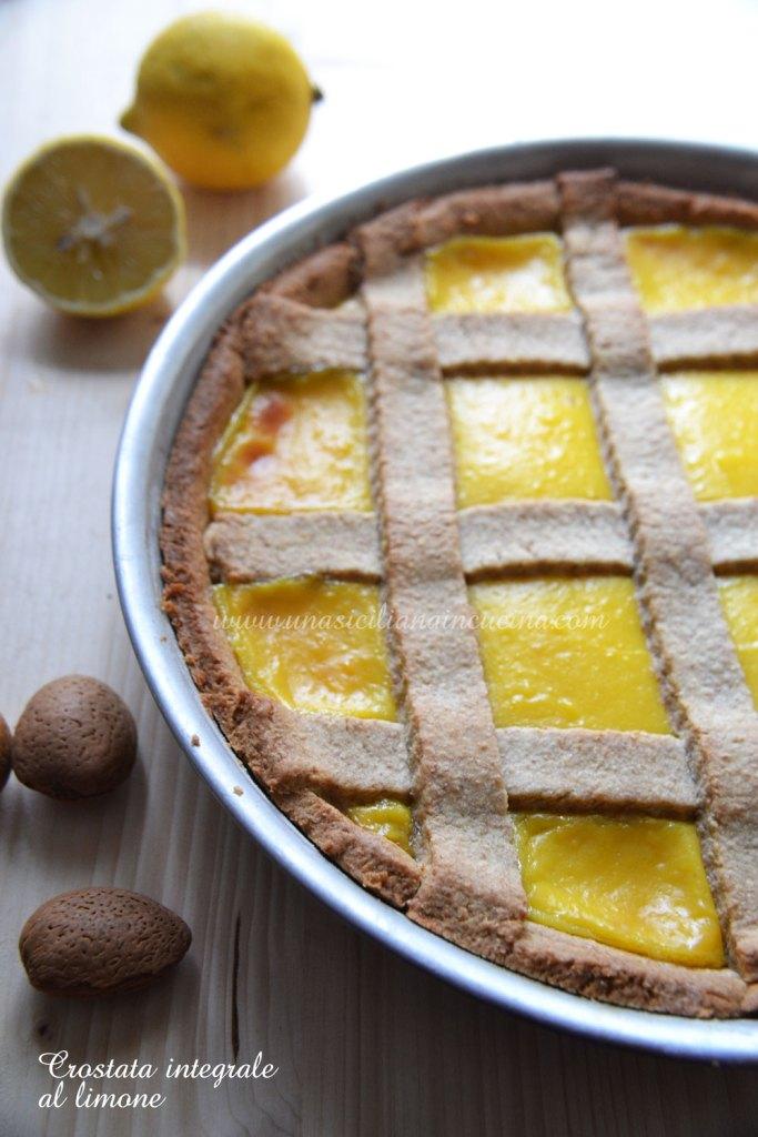 Crostata integrale con crema al limone