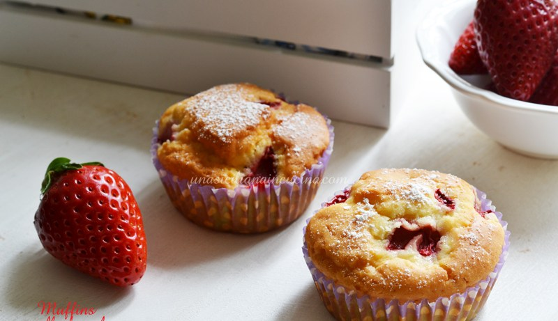Muffins alle fragole con stevia