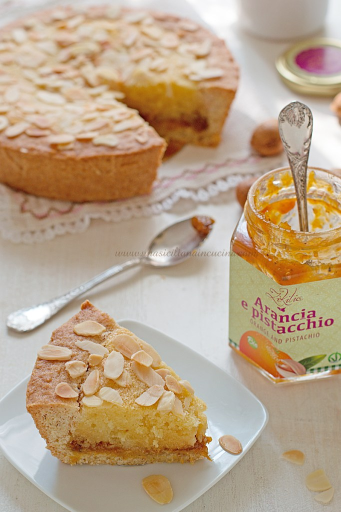 Torta integrale frangipane e marmellata arance