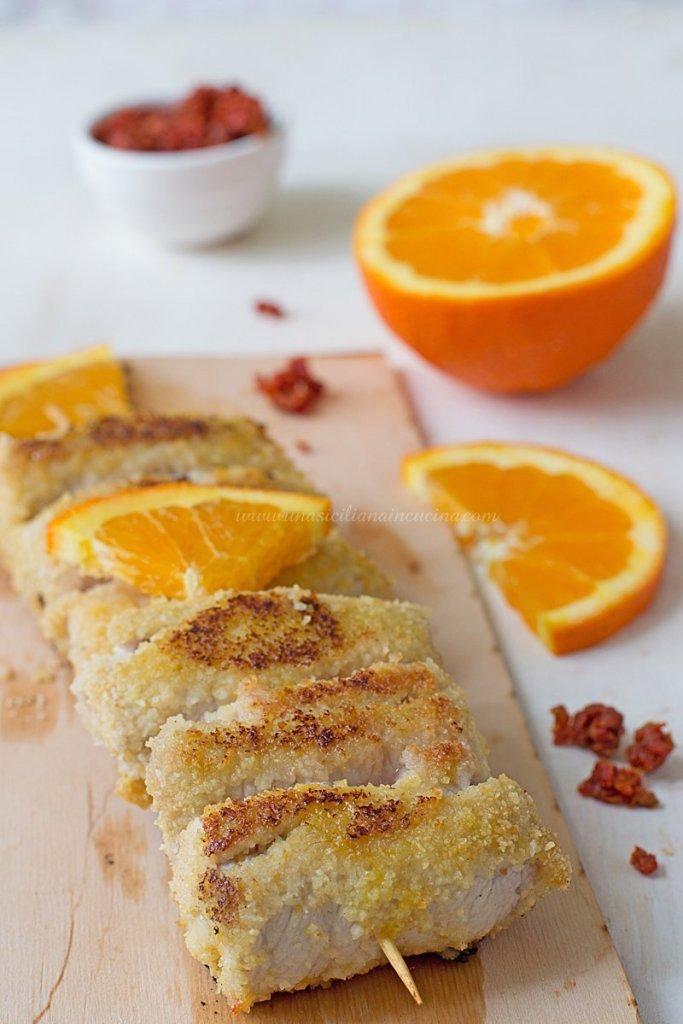 Spiedini di lonza all'arancia