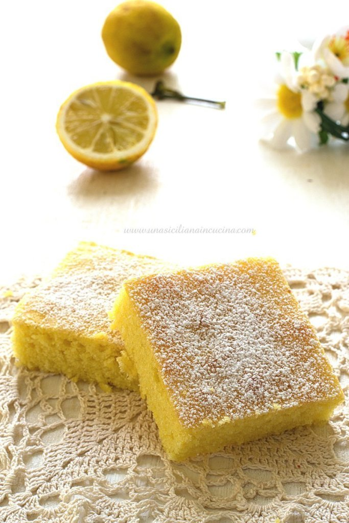 Brownies al limone