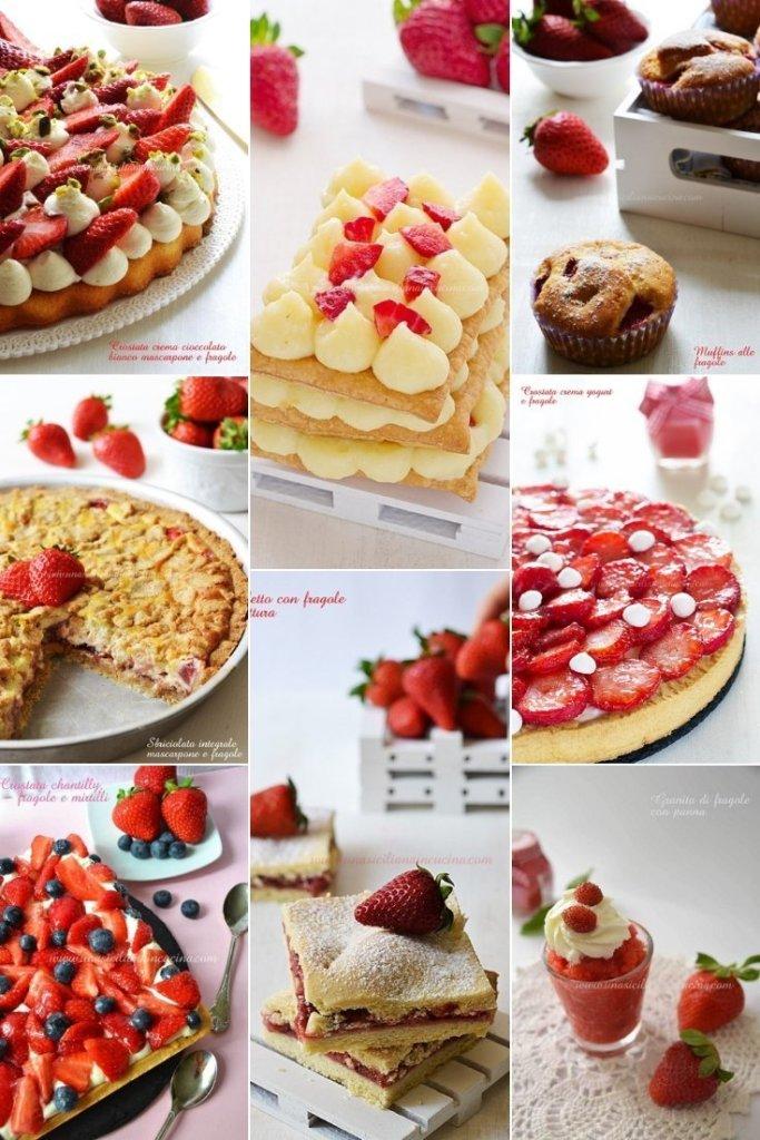 Raccolta dolci con le fragole
