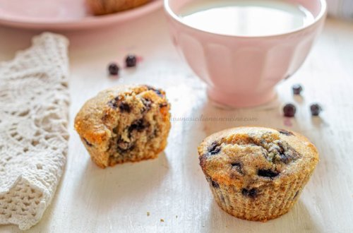 Muffins integrali ai mirtilli