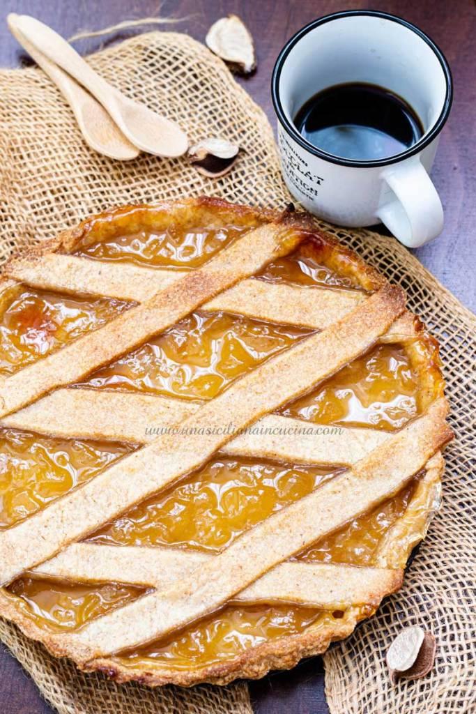 Crostata integrale confettura ananas