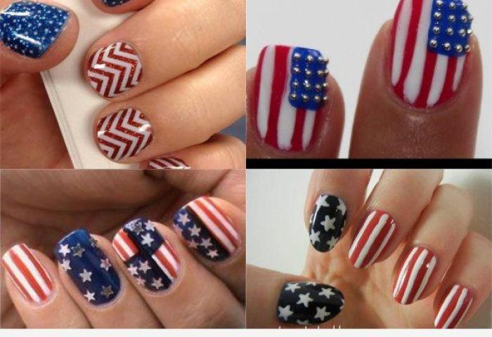 Cómo Dibujar La Bandera De Estados Unidos En Un Nail Art Feliz 4 De