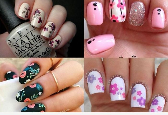 Uñas Con Flores Bonitos Diseños Florales Para Tus Uñas Uñas Pintadas