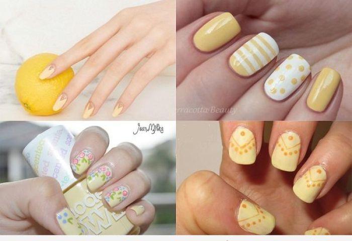Uñas Pintadas Amarillas Encuentra El Tono Perfecto Para Cada