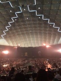中から観た東京ドーム