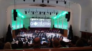 A photo taken by Dan at the concert Ghostbusters with live orchestra in Liverpool