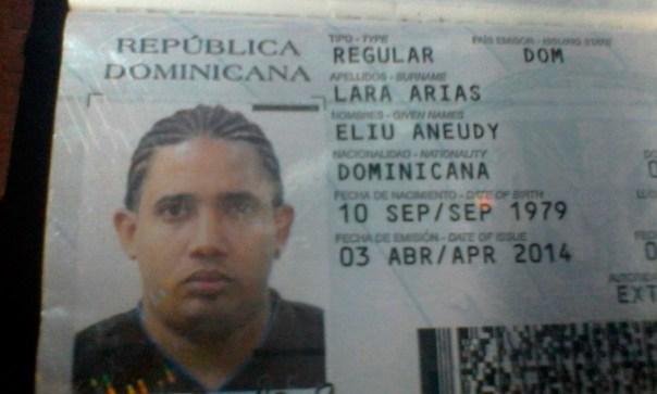 El dominicanon Eliu Aneudy Lara Arias (Cortesía)