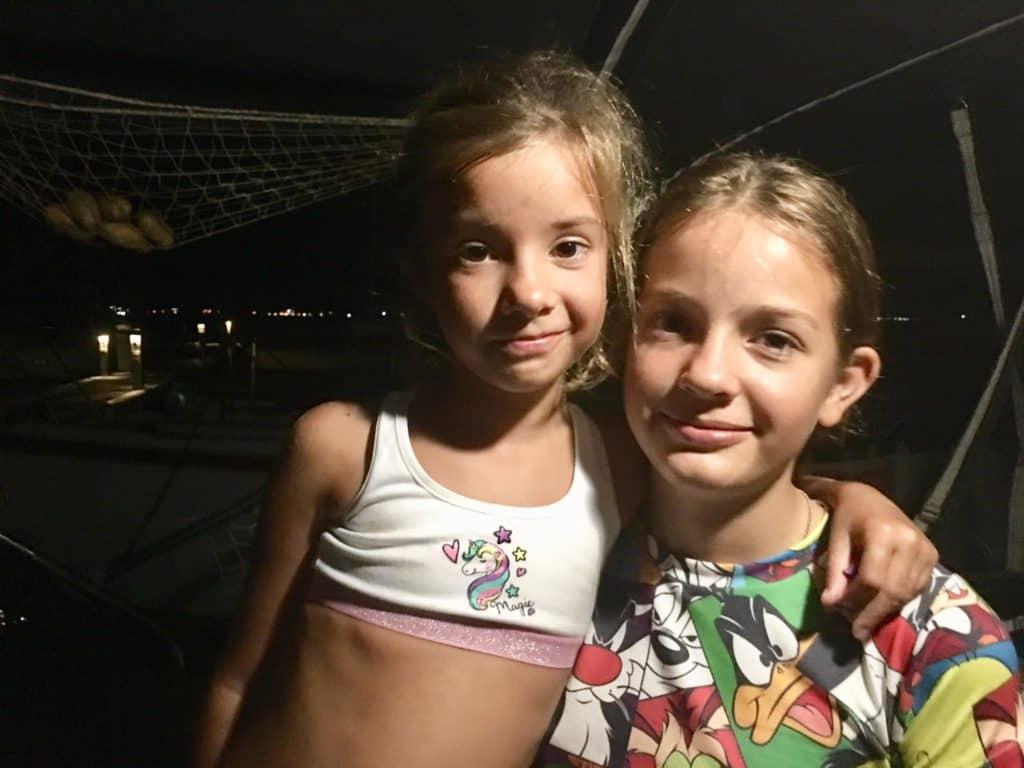 Sara con Sofía.