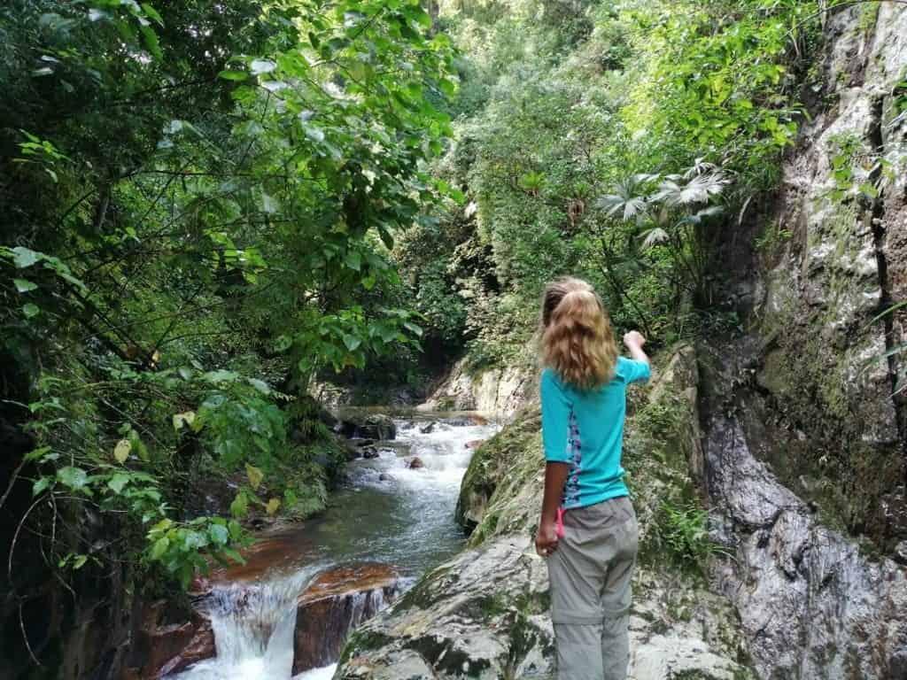 Cascada en el rio de Minca.