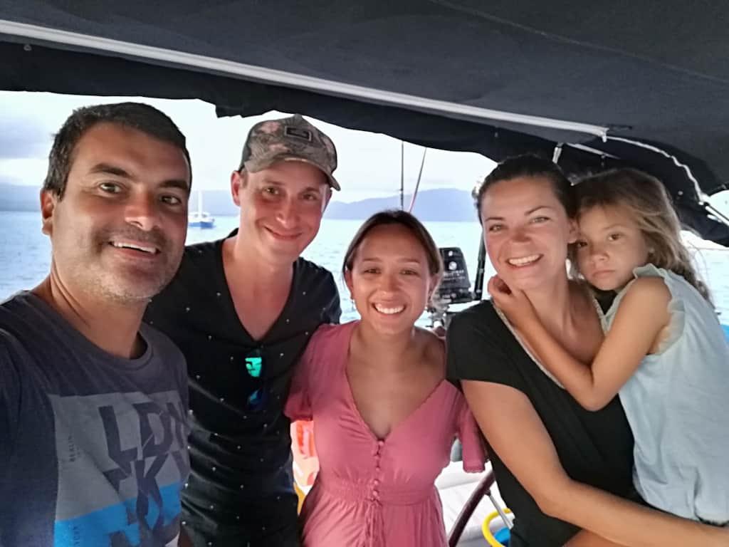 Mark y Natalia a bordo