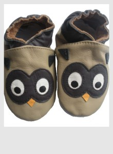 Chaussons_bebe_cuir_APDL_hibou 1