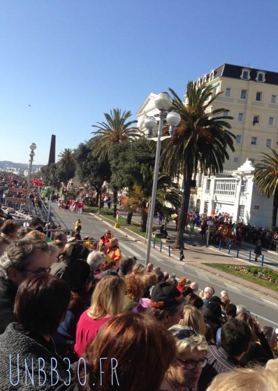 bataille des fleurs carnaval de Nice 06 vue des gradins