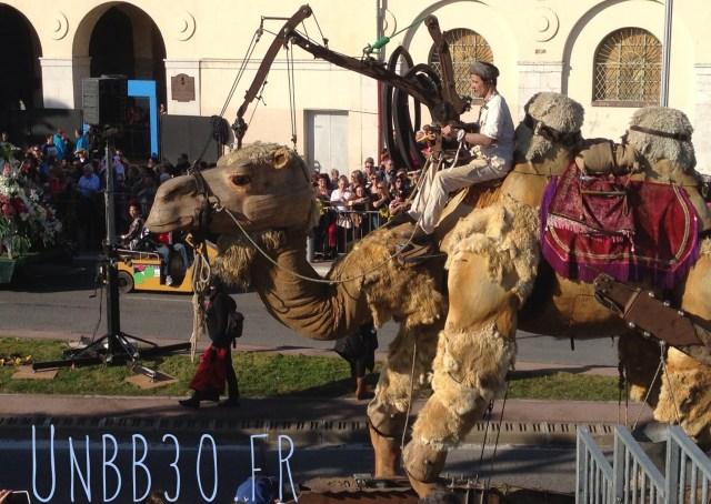 bataille des fleurs carnaval de Nice 06 chameau dromadaire