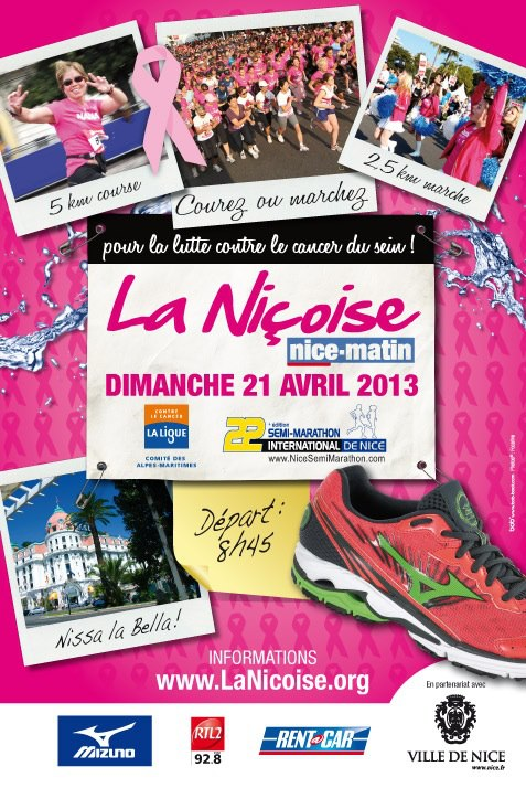 La Niçoise Nice matin, course et marche contre le cancer