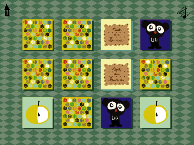 kids squares application ipad iphone memory
