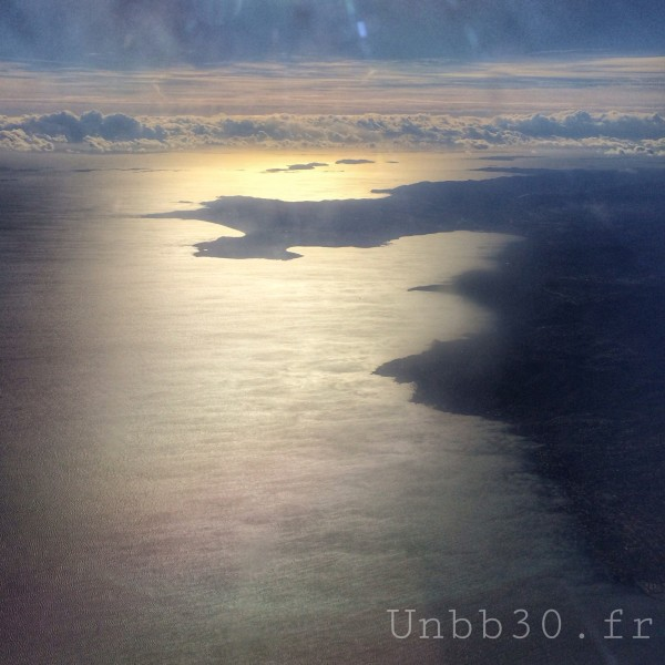 côte d'azur vue d'avion