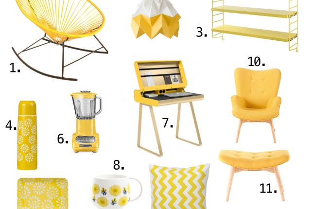 Selection déco jaune