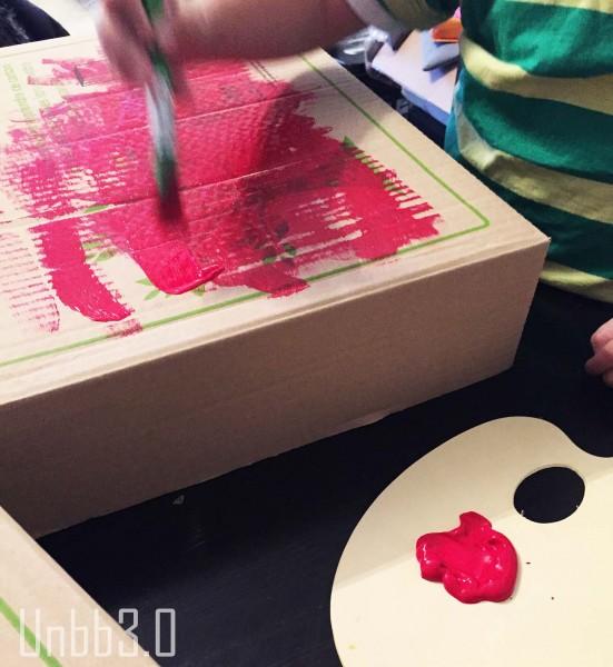 peinture tv carton diy