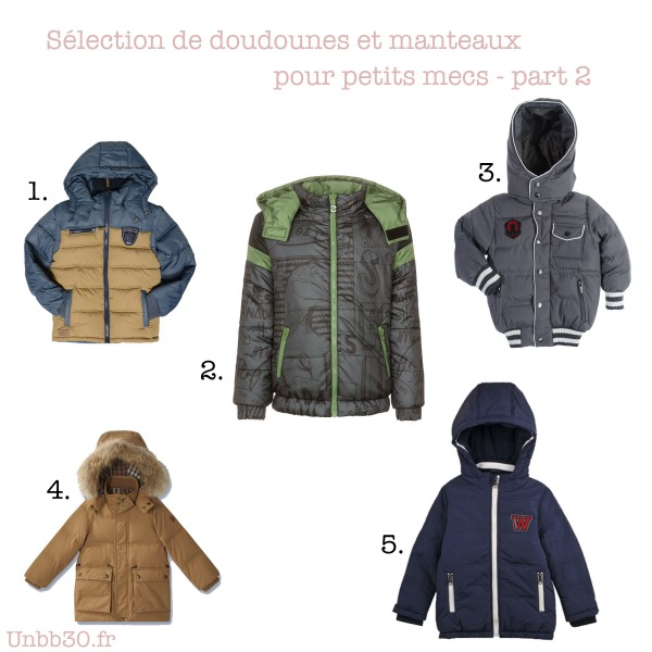 selection doudounes et veste pour garcons 2