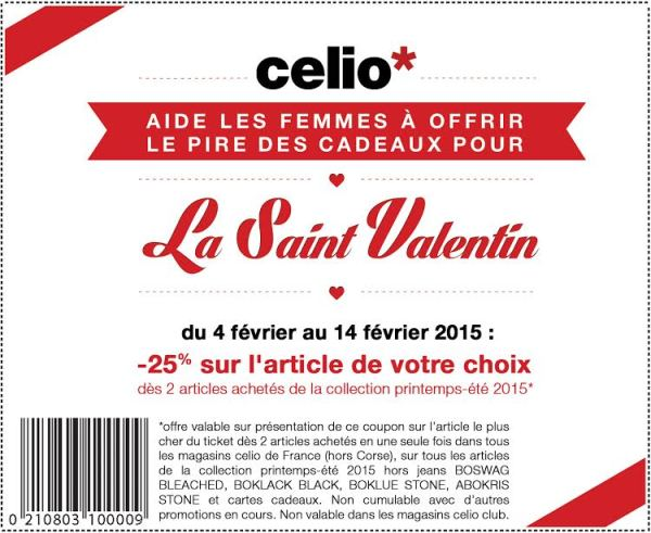 coupon réduction Célio
