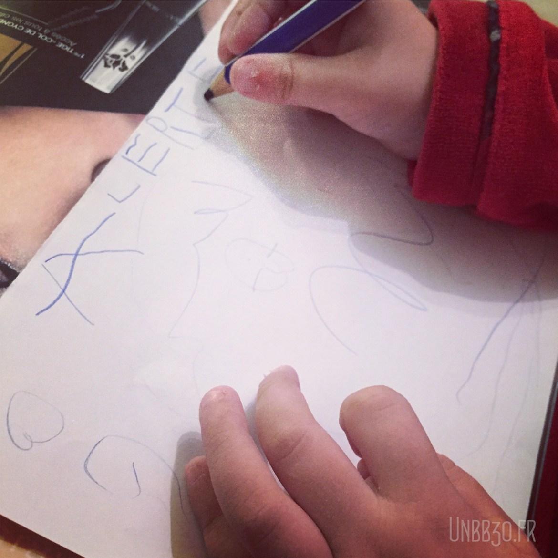 Mini BN écriture 4 ans