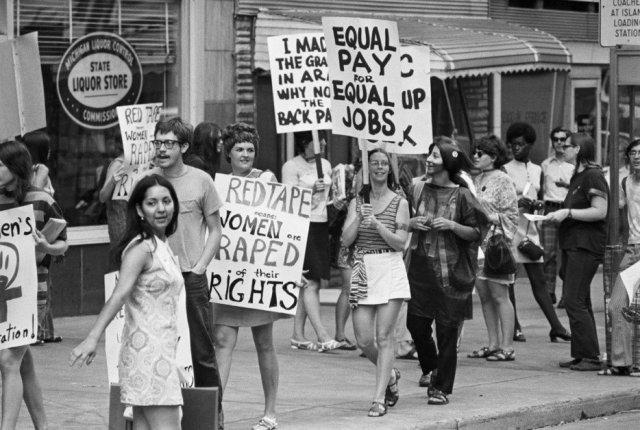 marche pour les droits des femmes 1970
