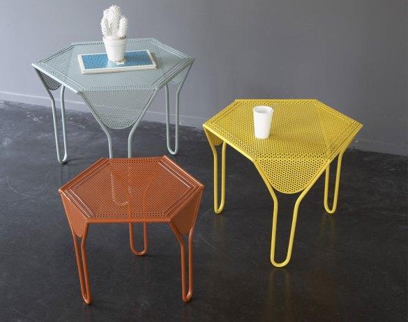Trio de tables becquet