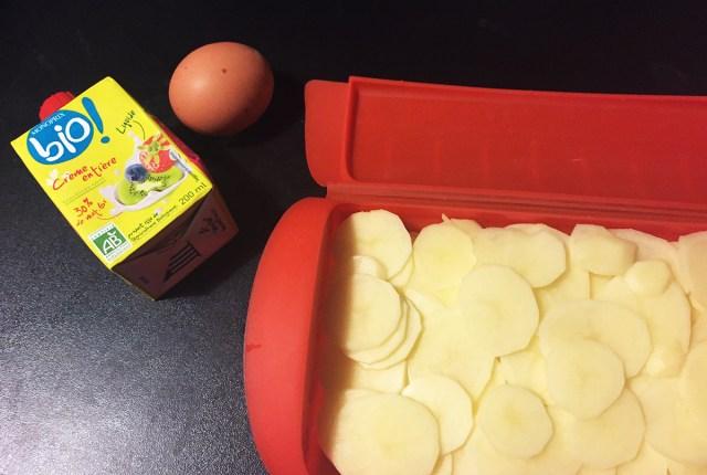 gratin de pomme de terre à la papillotte