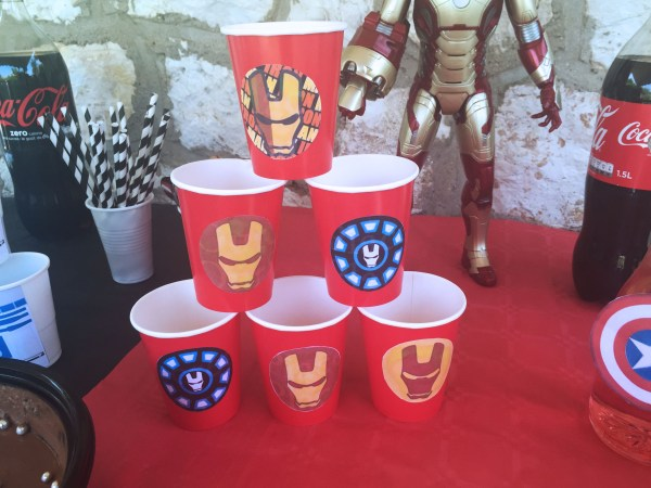 sweet table iron man avengers